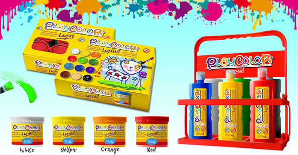 peinture liquide playcolor - gouache - playcolor